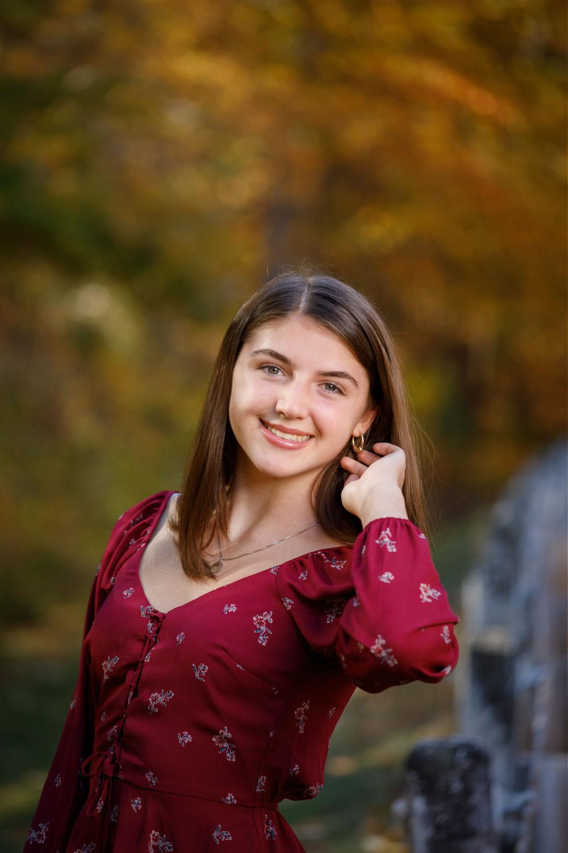 Quabbin Reservoir High school girl senior photo